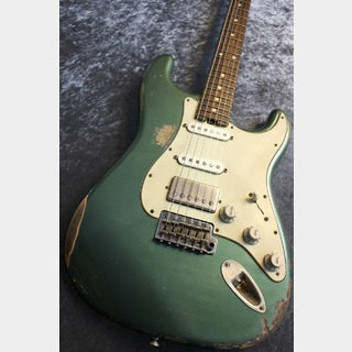 Iconic Guitars Vintage Modern 62S Hot Rod Alder Sherwood Green Heavy Relic #05/0181【極音個体】【虎杢ネック】