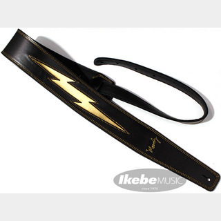 "moody Leather-Leather Gold Lightning Bolt 2.5"" long [Black/Black]"