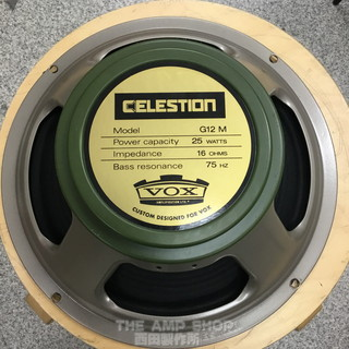 Celestion VOX G12M Greenback  (16Ω/25W)