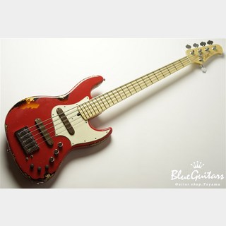 Xotic XJ-1T 5st Fiesta Red over 3-Tone Sunburst #1899 Heavy Aged/Ash/M