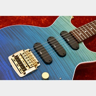 "Kz Guitar Works Kz One Semi-Hollow 3S16 Kahler -Surf Blue Gradation- ""Custom Line""【町田店】"