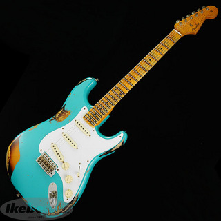 Fender Custom Shop Limited Edition 1958 Stratocaster Heavy Relic (Taos Turquoise over 2-Tone Sunburst) 【特価】