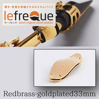 LefreQue Red Brass+Gold Plated 33mm