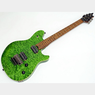 EVH Wolfgang Standard Quilt Maple Top / Baked Maple Fingerboard / Transparent Green