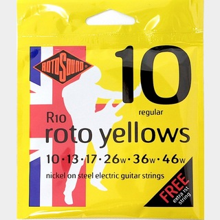 ROTOSOUNDROT-R10 Roto Yellows Regular エレキギター弦