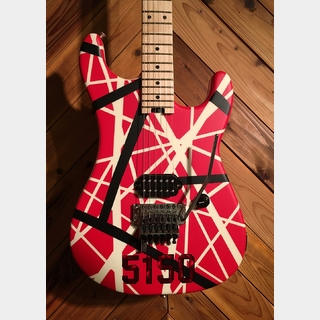 EVH Striped Series 5150 Red B/W Stripe Transparent Red