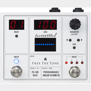 Free The TonePROGRAMMABLE ANALOG 10 BAND EQ PA-1QB デジタルイコライザー【Webショップ限定】