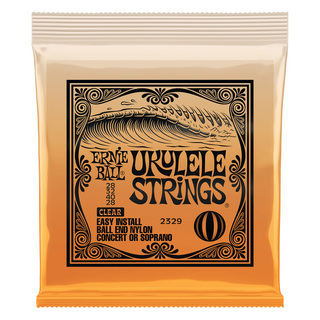 ERNIE BALL 2329 Ukulele Clear Nylon Strings×3set Ball-end ボールエンドタイプ ウクレレ弦