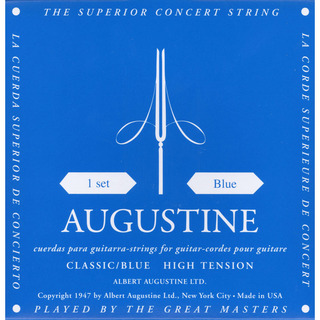 AUGUSTINE Classic Blue Regular Trebles High Tension Basses 28-45【WEBSHOP】