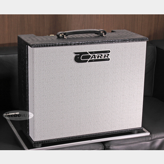 CARR Telstar 112 Combo, Mint Faceplate Cream Knobs, Gator Black Tolex