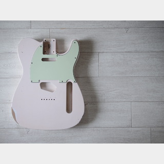 MJT Telecaster Body - Alder - Shell Pink - Light Relic