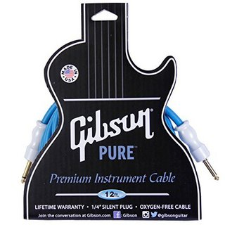 Gibson Instrument Cable CAB12-BL /12ft Blue