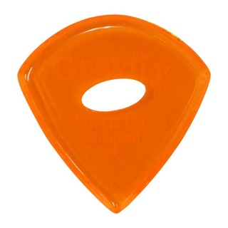 Gravity Guitar Picks Sunrise -Standard Elipse Grip Hole- GSUS3PE 3.0mm Orange ピック