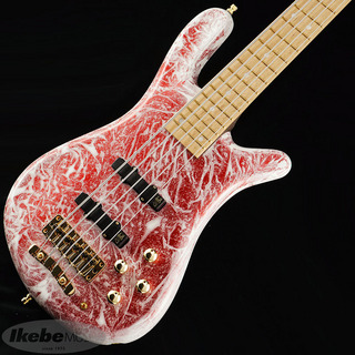 "Warwick Custom Shop Streamer LX 5st""Storm Galaxy Proto Color""(White on Red)"