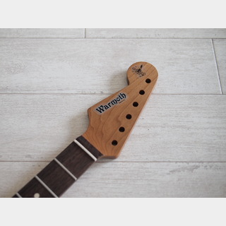 "WARMOTHStartocaster Neck ""Reverse"" - Roasted Maple/Indian Rosewood - Modern"