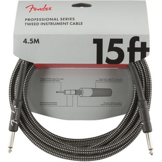 Fender Professional Series Instrument Cable SS 15' Gray Tweed ギターケーブル