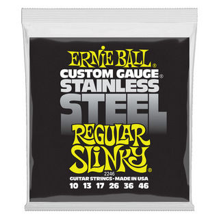 ERNIE BALL 2246 Regular Slinky Stainless Steel Wound 10-46 Gauge エレキギター弦