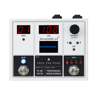 Free The TonePA-1QG PROGRAMMABLE ANALOG 10 BAND EQ ギターエフェクター