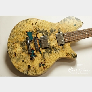 dragonfly MAROON CUSTOM 666 - Buckeye Burl with Resin