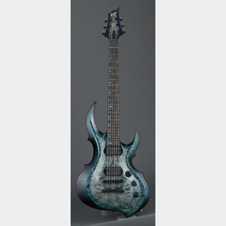 ESP FRX-CTM NT Burled Maple #Peacock Blue Burst