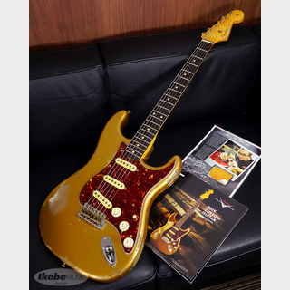 Fender Custom Shop MBS 62 Stratocaster Heavy Relic, Aged Shoreline Gold, Master Built By Jason Smith