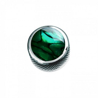 Q-PartsDOME KNOB TYPE [KCD-0014/Green Abalone Shell in Chrome] 【展示品処分特価】