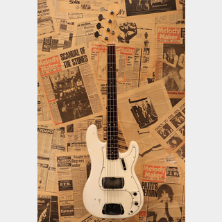 "Fender 1964 PRECISION BASS ""Original Olympic White"" with Spaghetti Logo"""