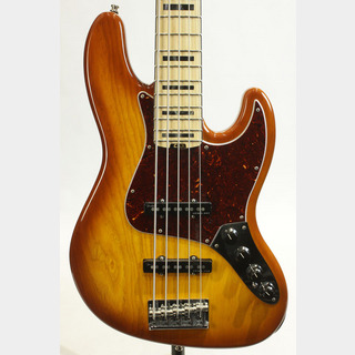 Fender American Elite Jazz Bass V Ash Tabacco Burst / Maple