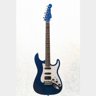 G&L USA LEGACY HSS Premium Flame Maple Top Rosewood Fingerboard / Clear Blue