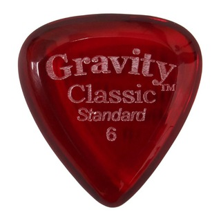 Gravity Guitar Picks Classic -Standard- GCLS6P 6.0mm Red ギターピック