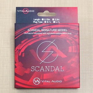 Vital AudioVA-Patch-F/SD 0.3m S/L(ショート) SCANDAL Signature Model Cable【数量限定特価】
