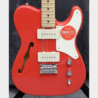 Squier by Fender 【数量限定】Paranormal Carbronita Telecaster Thinline ~Fiesta Red~ #CYKF20003415【2.90kg】