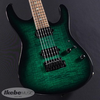 Suhr(正規輸入品) Modern Flame Maple/Basswood body, Mahogany neck/Pao Ferro FB (Trans Green with Black Burst) #JS4J3K