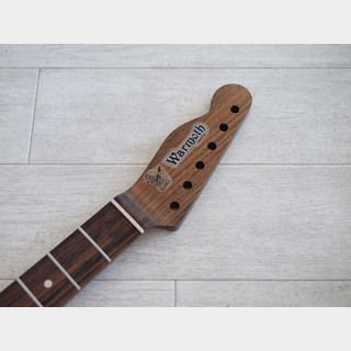 "WARMOTH Telecaster Neck ""Reverse"" - Walnut/Indian Rosewood - Modern"