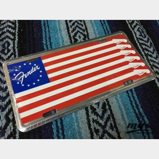 Fender License Plate American Flag