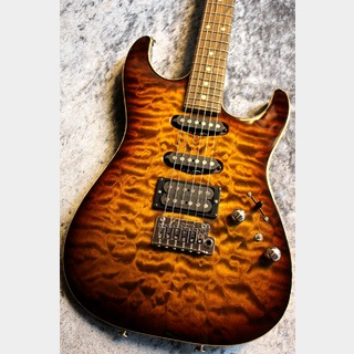 TOM ANDERSON Drop Top Tiger Eye Burst with Binding 【極杢トップ】【良音個体】【担当選定品】