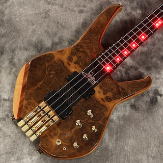 "Status GraphiteS2-Classic Through-Neck 4st Headless ""Burl Walnut Top"" with Red LED【新宿店】"