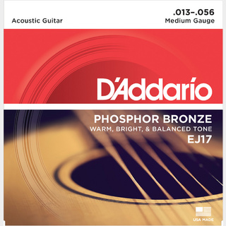D'Addario Phosphor Bronze Wound Extra Light EJ17