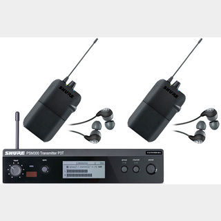 Shure P3TR112GR PSM 300 イヤフォン付きワイヤレスイヤモニ 【受信機2台セット】【WEBSHOP】