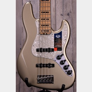 Fender American Elite Jazz Bass V Champagne/M【OUTLET】