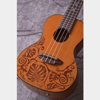 Luna Guitarsルナ コンサートウクレレ Uke Mo Concert A/E - Solid Cedar Top (UKE MO CDR)【ONLINE STORE】