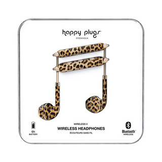 HAPPY PLUGS Wireless II 7630 Leopard ワイヤレスイヤホン