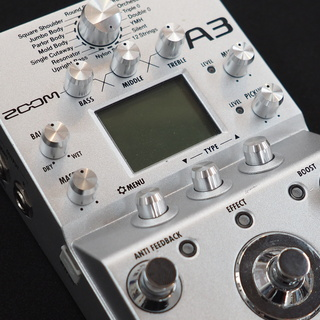 ZOOM A3 Pre-Amp & Effects for Acoustic Guitar