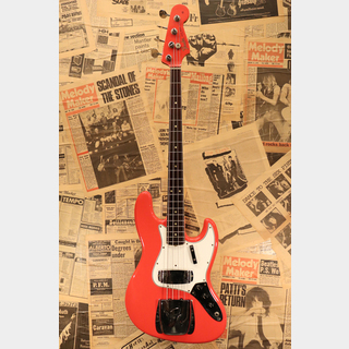 "Fender 1966 Jazz Bass ""Original Fiesta Red with Bound & Dot Marker"""