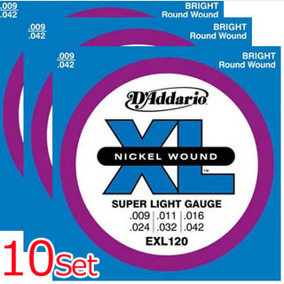 D'AddarioEXL120-10P Super Light 09-42 (10 Sets Pack) 【池袋店】