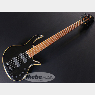 "Elrick Gold Series / e-volution 5 Bolt-on Fretless""Gabon Ebony Top, Pink ivory Fretboard"""