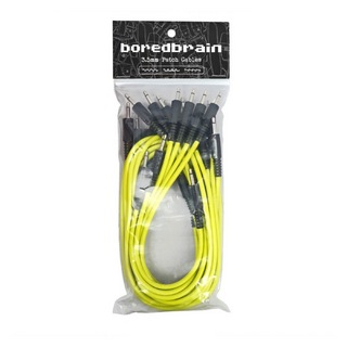 Boredbrain Music Eurorack Patch Cables Essential 12-Pack Nuclear Yellow パッチケーブル 12本パック
