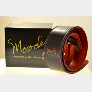 "moodyMOODY STRAPS Leather&Leather2.5"" Standard -Black/Red-"