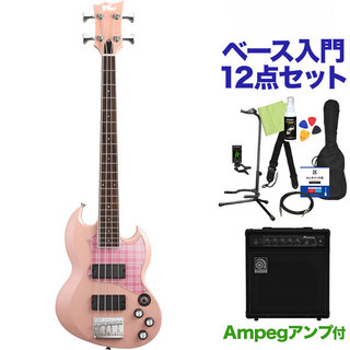 BanG Dream! VIPER BASS Rimi Mini Pink ベース12点セット 【ampegアンプ付】