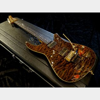 Crews Maniac Sound Ab's 6 String Root Beer with Bare Knuckle Pickups The Mule Humbucker